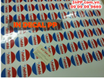 In decal PP, nhận in decal PP giá rẻ, in decal PP trong nhà, ngoài trời